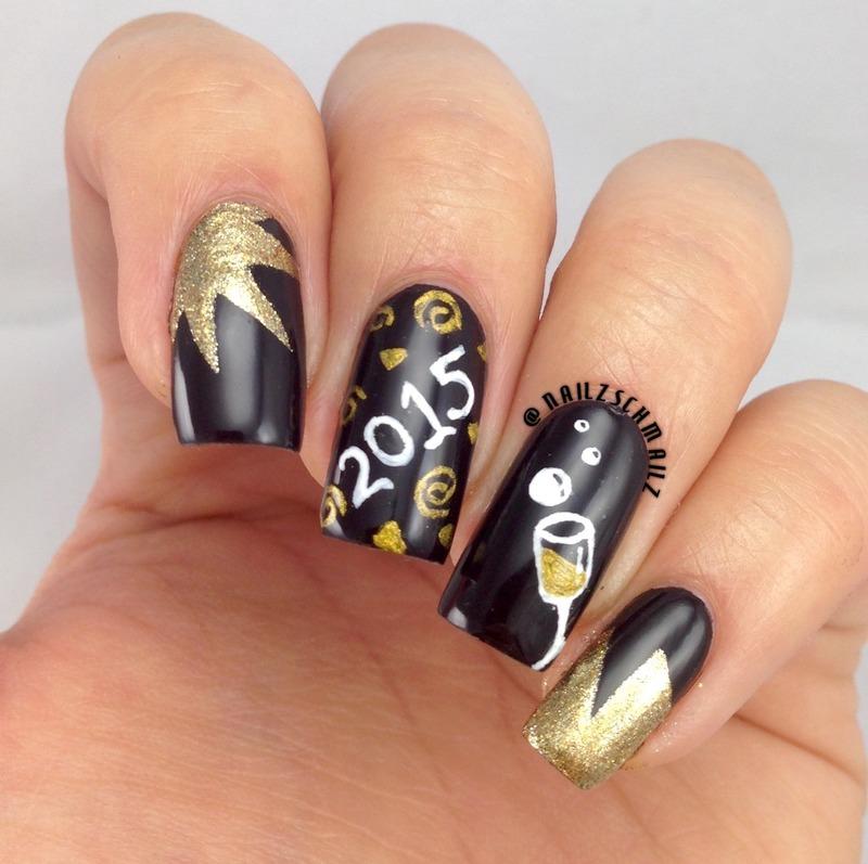 NYE mani  nail art by Eterna Santos