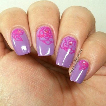 imperial roses nail art by Moni'sMani
