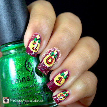 New Year Ornament Nails nail art by Pearl P.