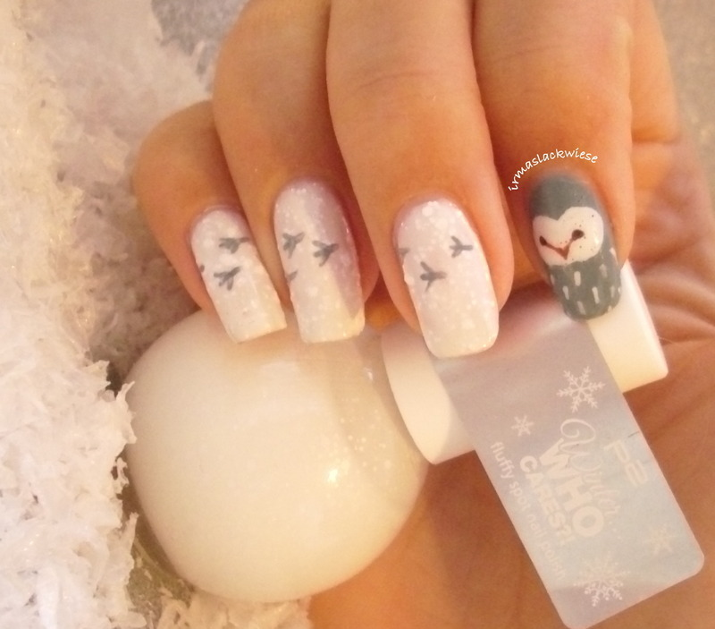 Snowy Owl Nail Art By Irma Nailpolis Museum Of Nail Art
