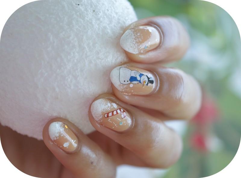 Snowman nail art by MimieS Nail