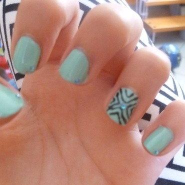 blue light marine nail art by lety01