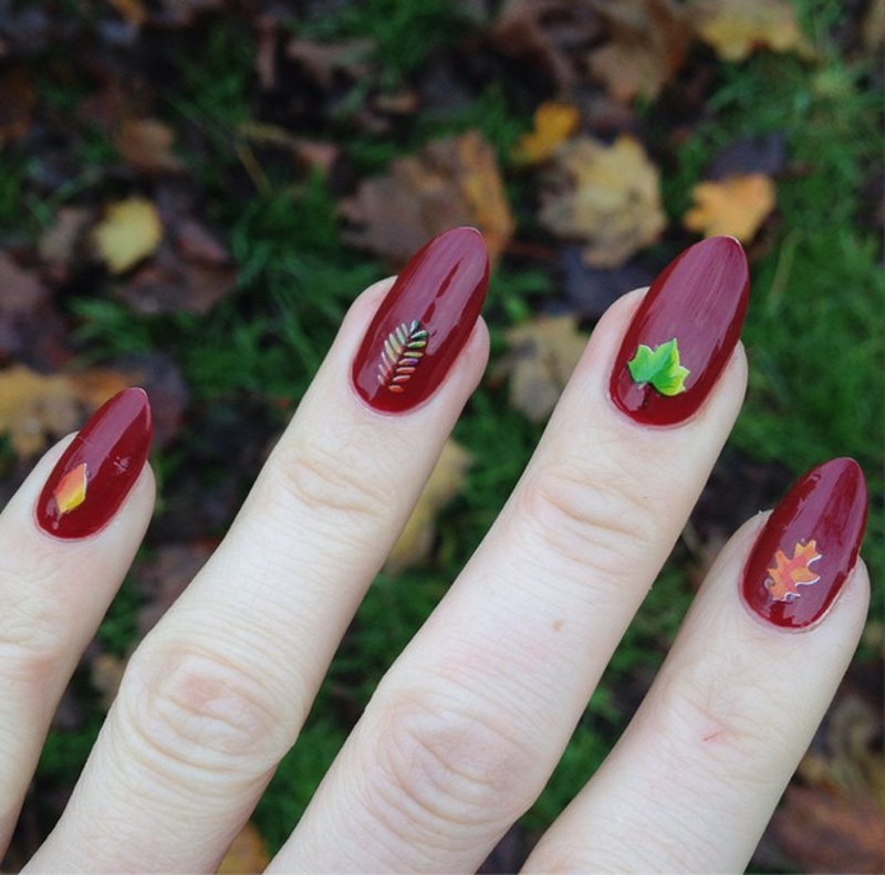 Autumn Leaves nail art by MyMintNails