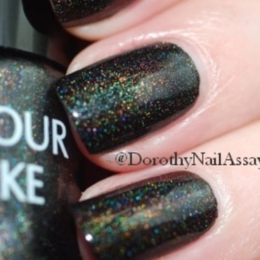 Colour Alike Black Saint Swatch by Dorothy NailAssay