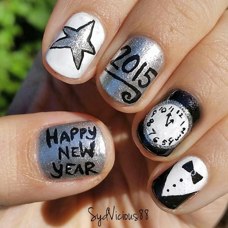 Happy New Year!  nail art by SydVicious