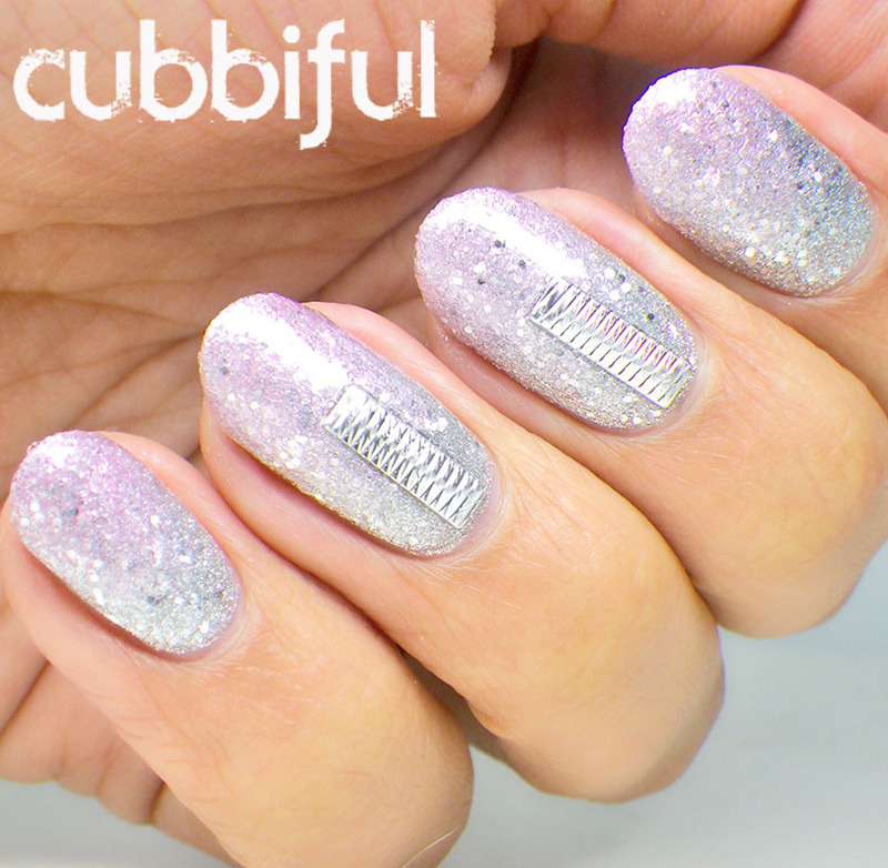Glitter Gradient Nails for New Year's nail art by Cubbiful