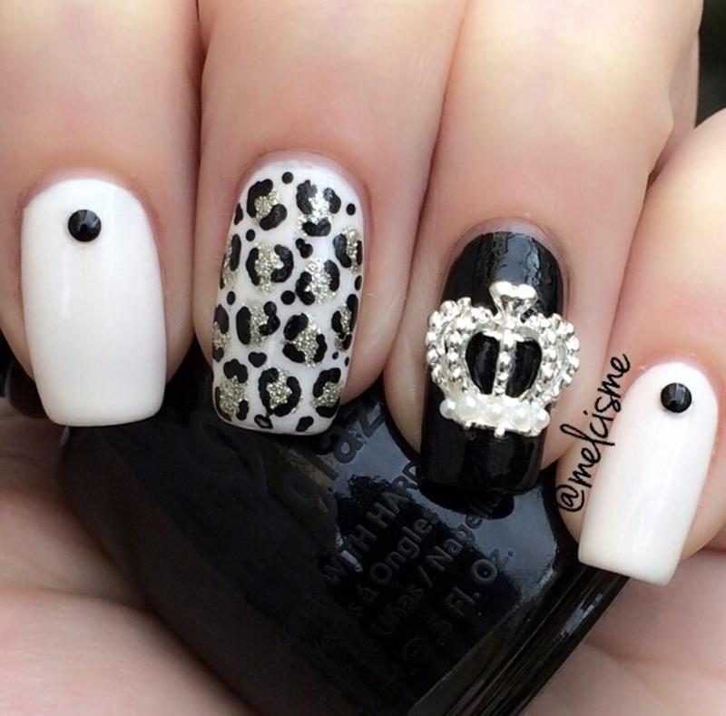 NYE mani  nail art by Melissa