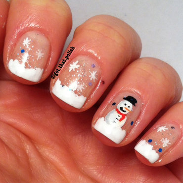 French Frosty nail art by Luciana