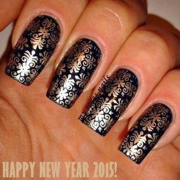 NYE manicure  nail art by Ewa