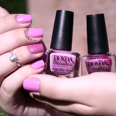 Esmaltes doyda marca algodao doce magia 3d esmalte e cor caixinha rosa rosa claro swatche resenha amostra rosa bebe yogurte mao esmalte e cor thumb370f