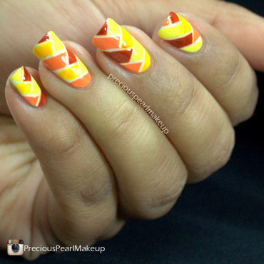 Multicolor Fishtail Braid nail art by Pearl P.