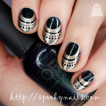 New Year's Eve manicure nail art by sabbatha