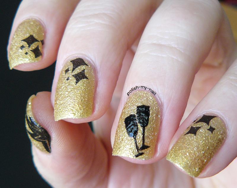 Happy New Year! nail art by Ewlyn