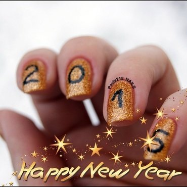 Happy New Year! nail art by Paula215. NAILS