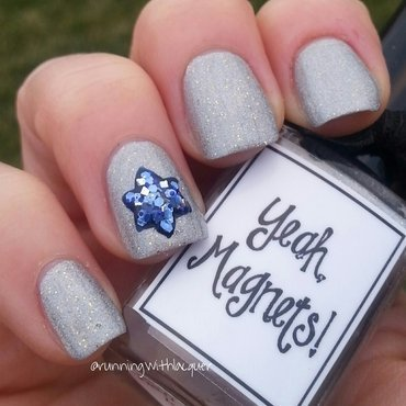 Hanukkah Nails nail art by Debbie D