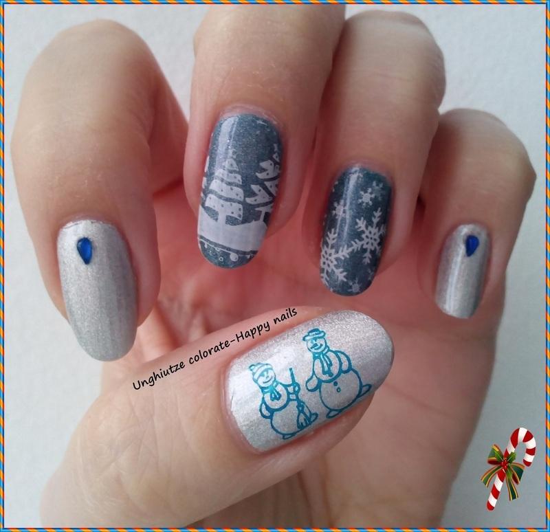Snow nail art by Oana  Alexandru
