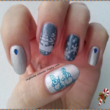 Snow nail art by Oana  Alexandru
