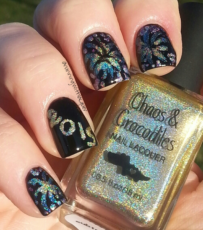 New Year 2015 nail art by Debbie D