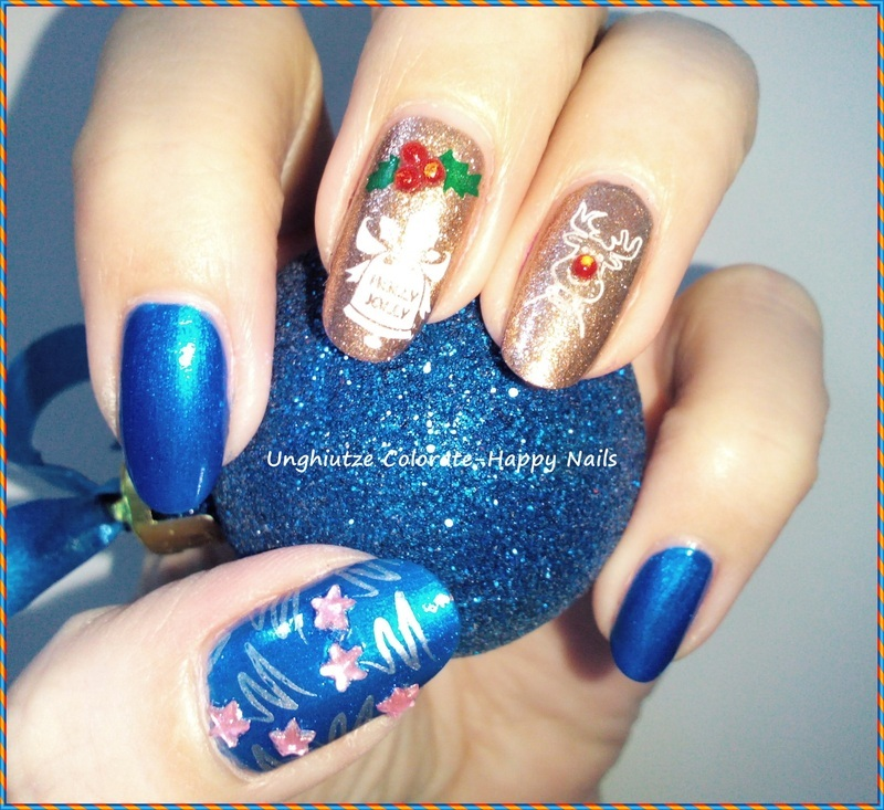 Christmas characters nail art by Oana  Alexandru