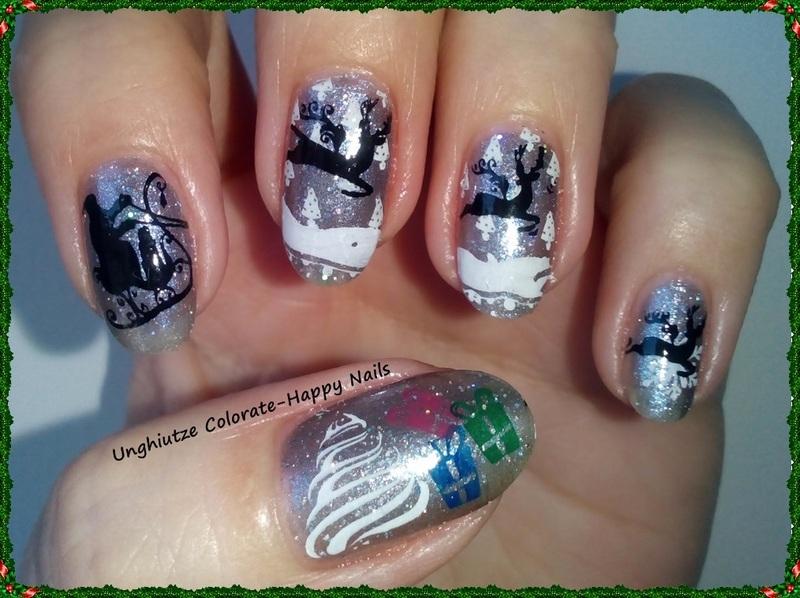 Christmas Tree nail art by Oana  Alexandru