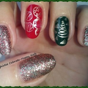 Christmas Tree nail art by Oana  Alexandru