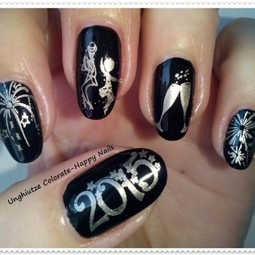 Happy New Year!!!! nail art by Oana  Alexandru