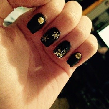 New years eve nails 2014 nail art by Chantelle Saunders