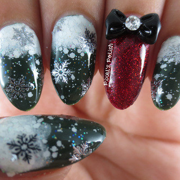 Winter Wonderland nail art by Pixel's Polish