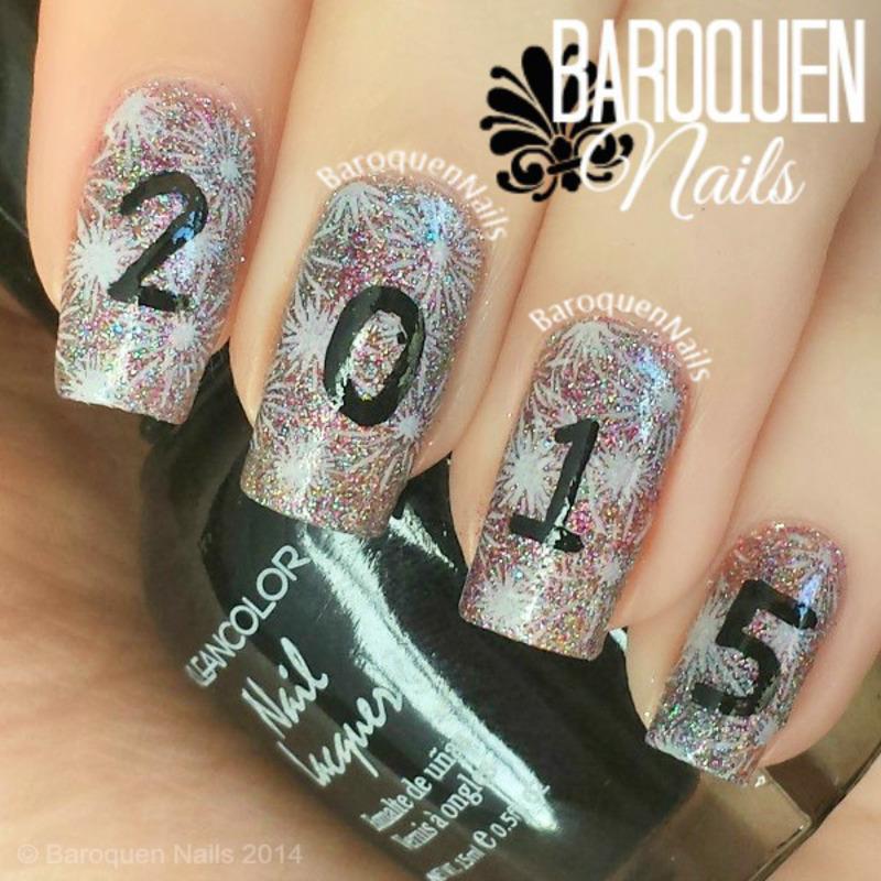 Goodbye 2014 nail art by BaroquenNails