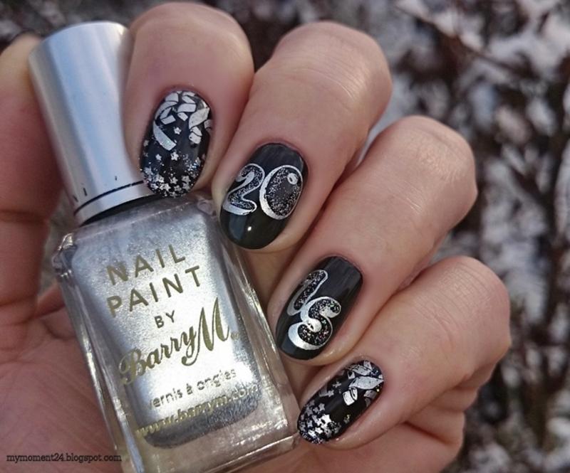 New Year 2015 nail art by T. Andi