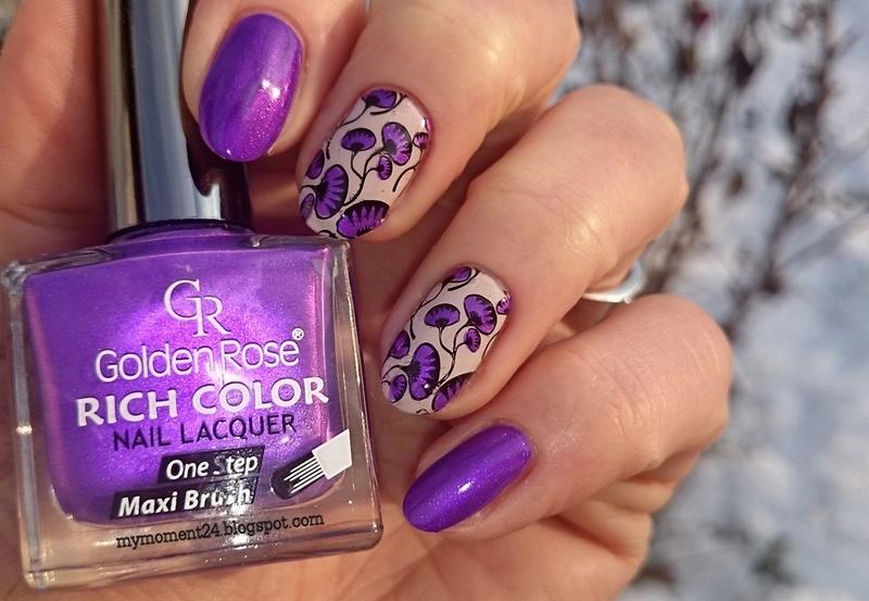 Purple nails nail art by T. Andi