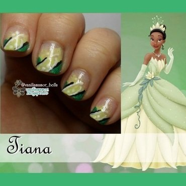 Tiana nail art by Isabella