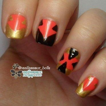 Tribal nail art by Isabella