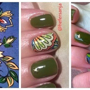 Inspired nail art by hefersanja