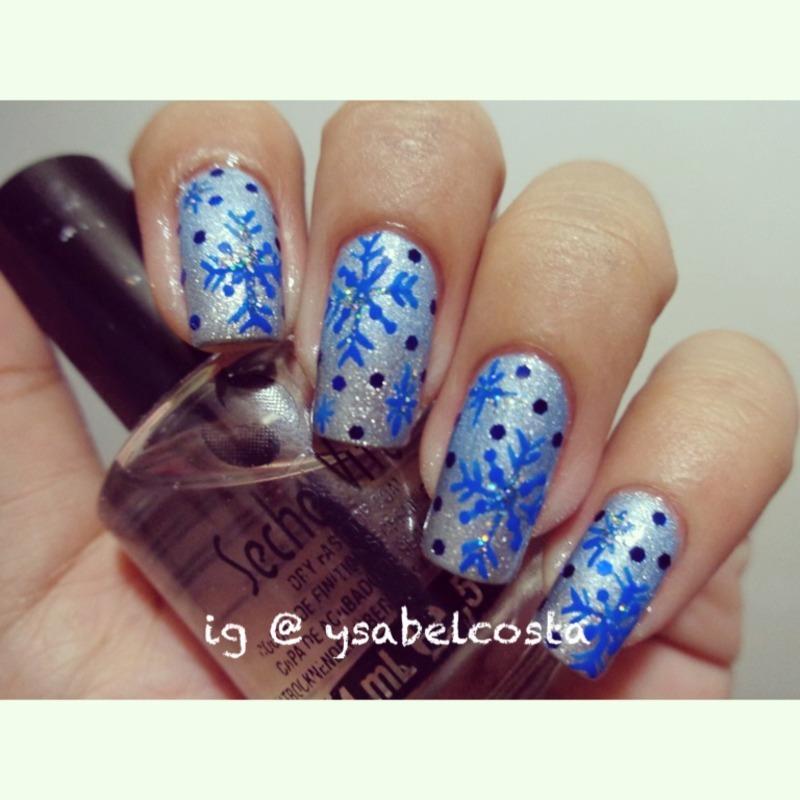 Snowflakes nail art by Katrina Ysabel Costa