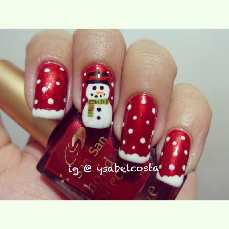 Snowman inspired by judyrox nail art by Katrina Ysabel Costa