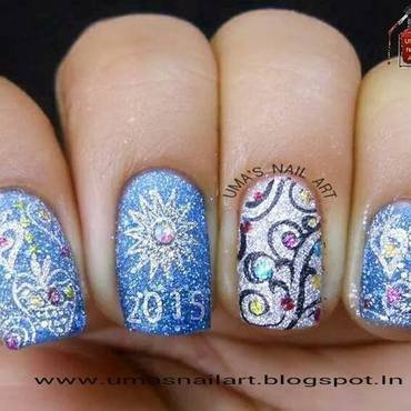 New Year Eve Nails nail art by Uma mathur