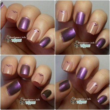 Purple duochrome nail art by Isabella