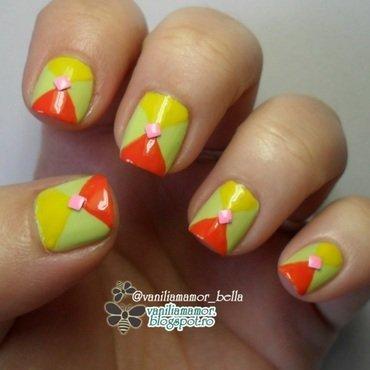 Citrus nail art by Isabella