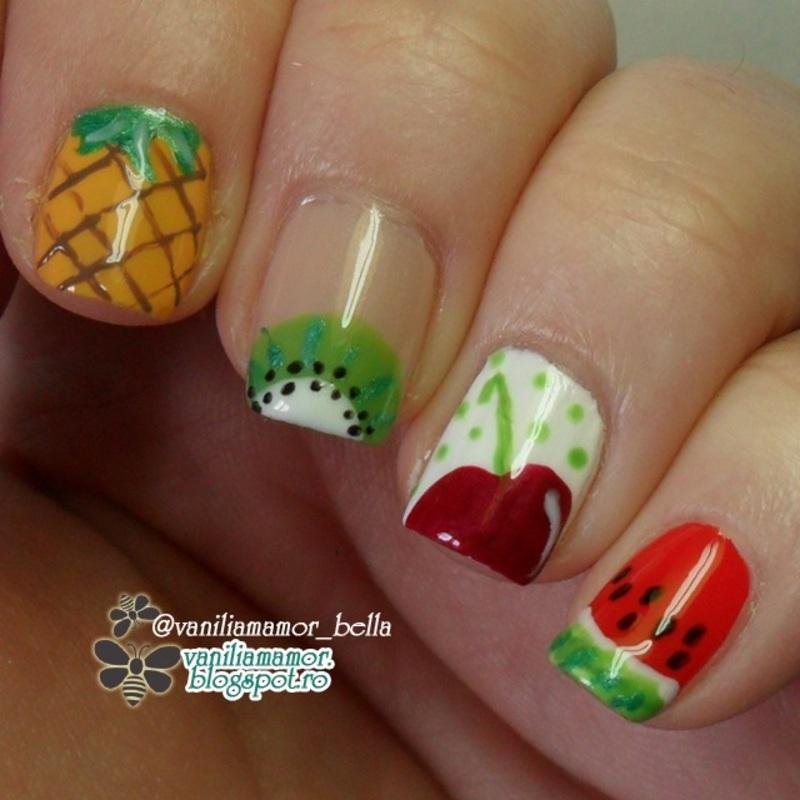 Fuits nail art by Isabella