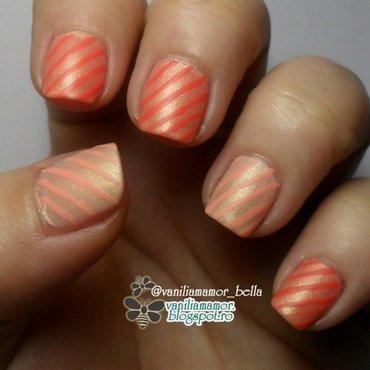 Matte stips nail art by Isabella