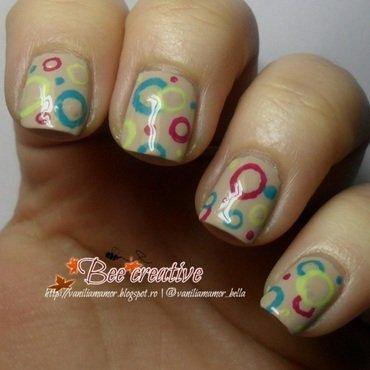 Funcky dots nail art by Isabella