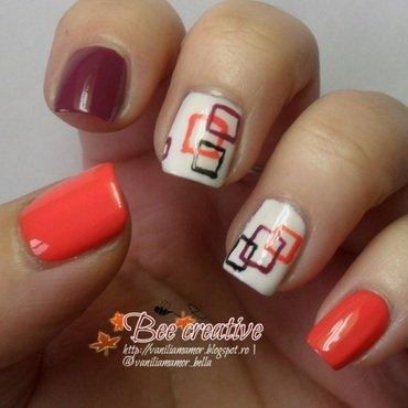 Geometrical nail art by Isabella