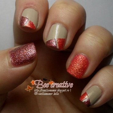 Autumn nail art by Isabella