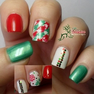 Christmas nail art by Isabella