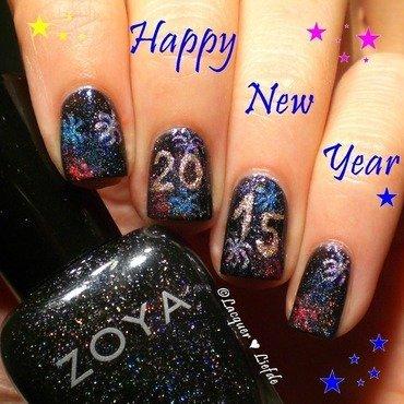 Happy New Year! nail art by Anna