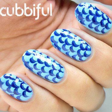 Blue Scallop Nails nail art by Cubbiful
