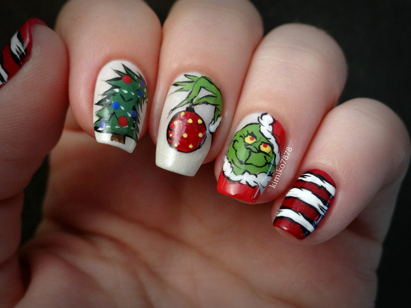 Grinch Nails Nail Art By Kim Nailpolis Museum Of Nail Art
