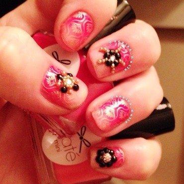 Bollywood nails nail art by Sarah Bellwood