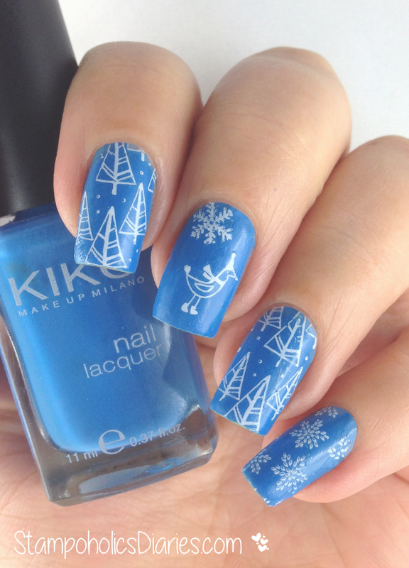 Winter Mani with Kiko and Konad nail art by Natasha - Nailpolis ...
